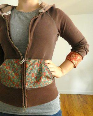 mini pip zip up hoodie tutorial