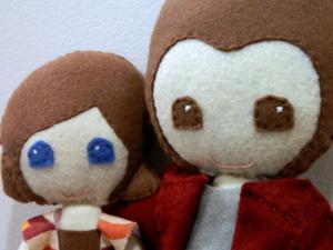 the felt couple- mini pip