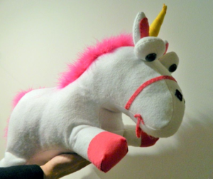 despicable me felt unicorn-mini pip