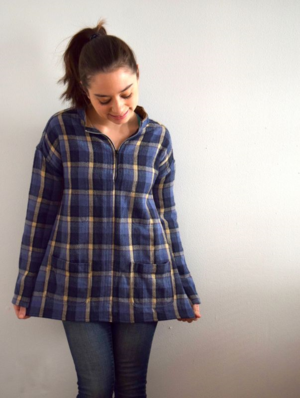 flannel shirt refashion- mini pip