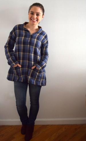flannel shirt refashion- mini pip
