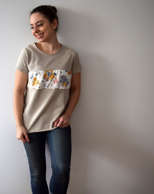 Band of Florals Tee-Trish Stitched