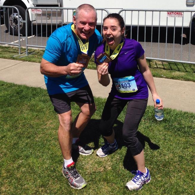 our first marathon- trish stitched