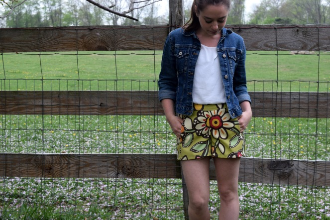 Floral Shorts by Trish Stitched