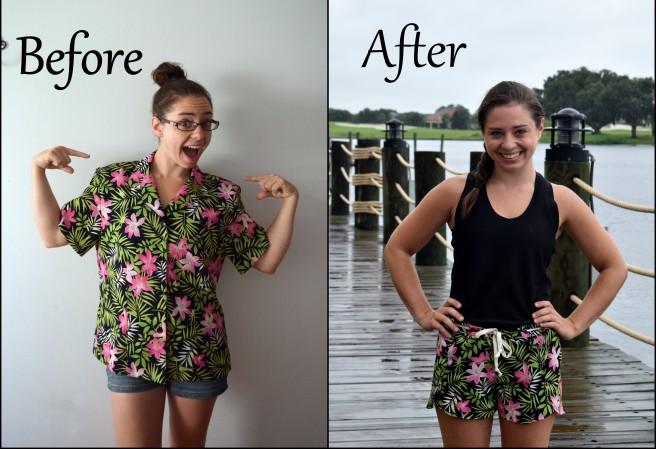refashioned nantucket shorts- trish stitched