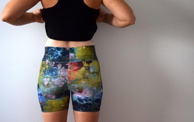 Floral Galaxy Shorts- Trish Stitched