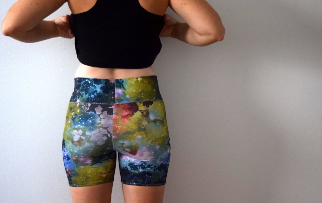 Floral Galaxy Shorts- Trish Stitched