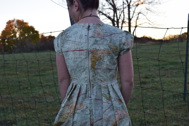 Oh the Places You'll Go: Map Dress- Trish Stitched
