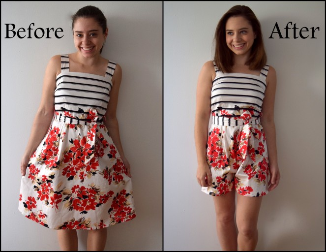 Dress to Romper Refashion - Trish Stitched