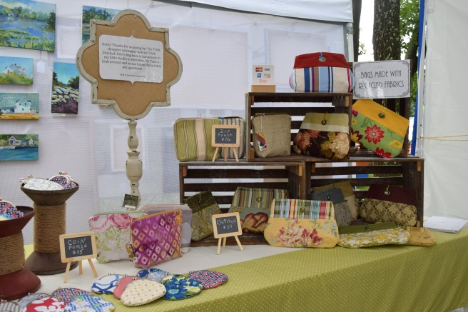 Trish Stitched Craft Show Booth Display - Handmade Bags