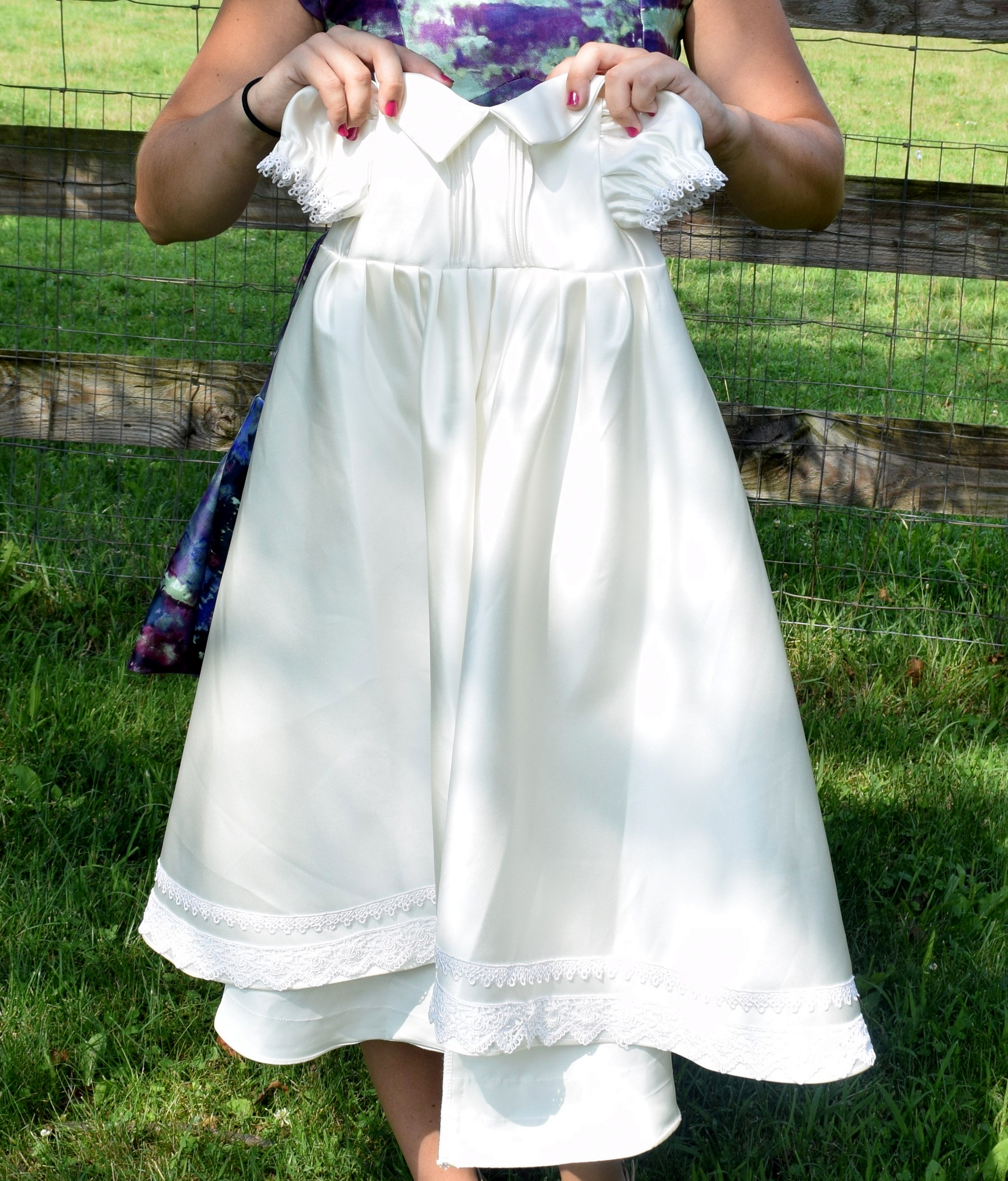 Christening Gowns From Wedding Dresses: Handmade Christening Gown From Piece Of Wedding Dress