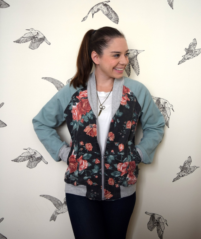 Refashioners 2016: Jeans to Bomber Jacket by Trish Stitched