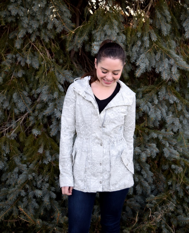 Snowy Grey Kelly Anorak - Trish Stitched