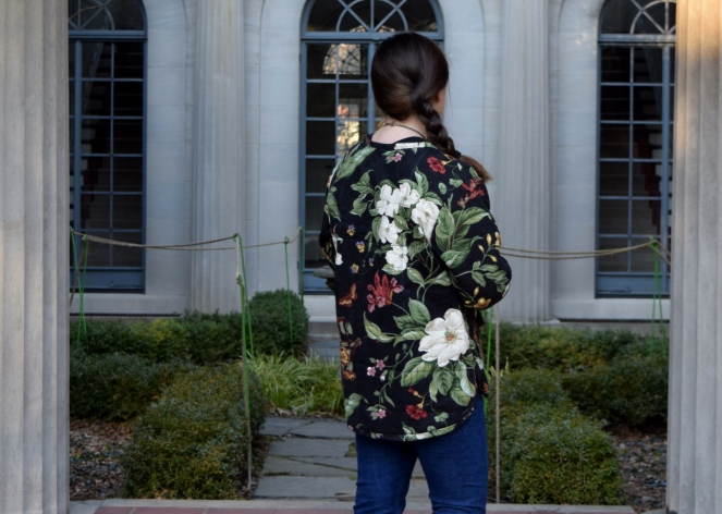 Floral Tamarack Jacket and Petite Ginger Jeans - Trish Stitched