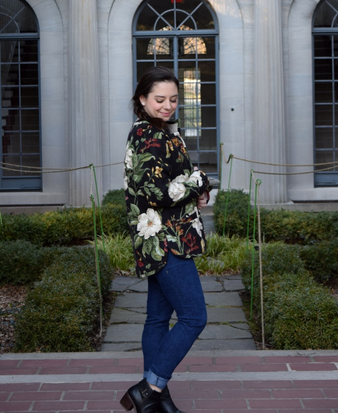 Floral Tamarack Jacket and Petite Ginger Jeans - Trish Stitched
