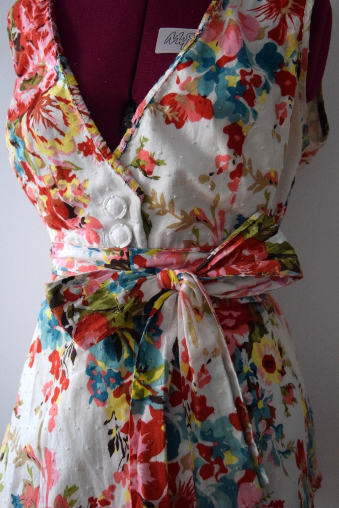 Floral Dress to Top Refashion - Trish Stitched