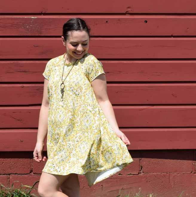 Yellow Floral Ebony Dress - Trish Stitched