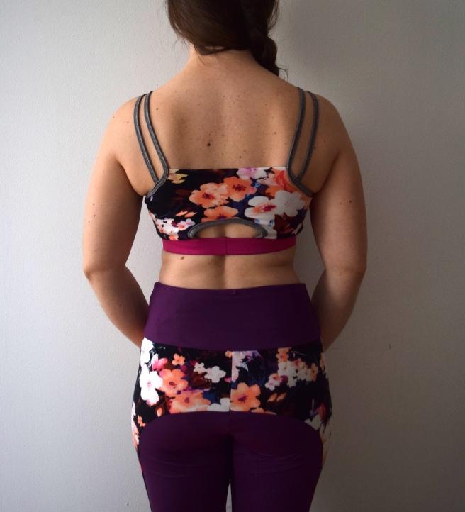 Purple Floral Workout Wear - Trish Stitched