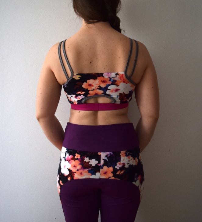 Purple Floral Workout Wear - Trish Stitched