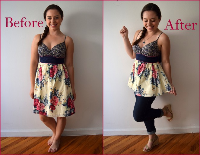 Refashion Your Summer Wardrobe - Dress to Top Refashion - Trish Stitched