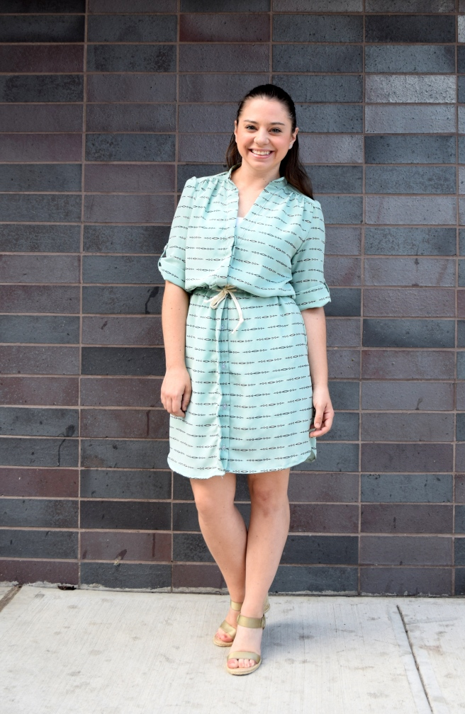 Sew Together For Summer - Simplicity 8084 Silk Shirt Dress - Trish Stitched