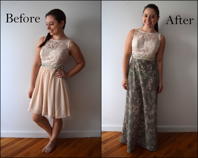 Bridesmaid Dress Refashion - Trish Stitched
