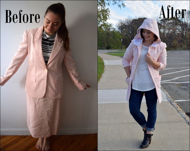 #Refashioners2017 Suit Me: Suit to Coat Refashion - Trish Stitched