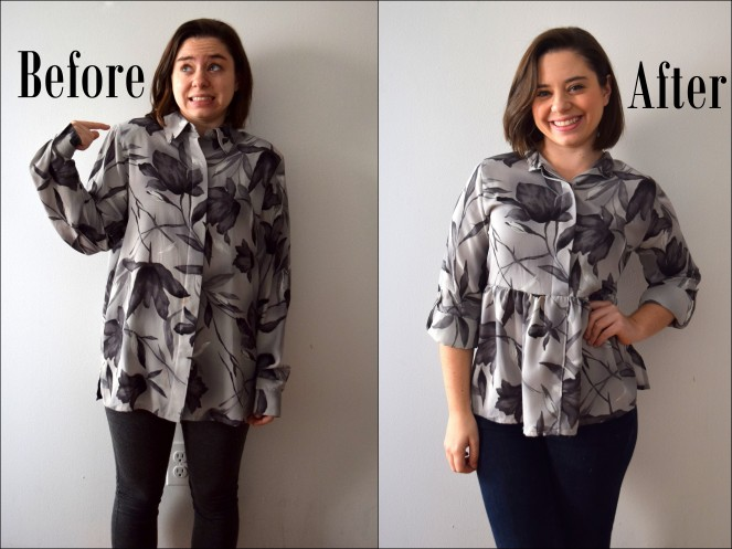 #RefashionFriday Blouse to Peplum Refashion - Trish Stitched