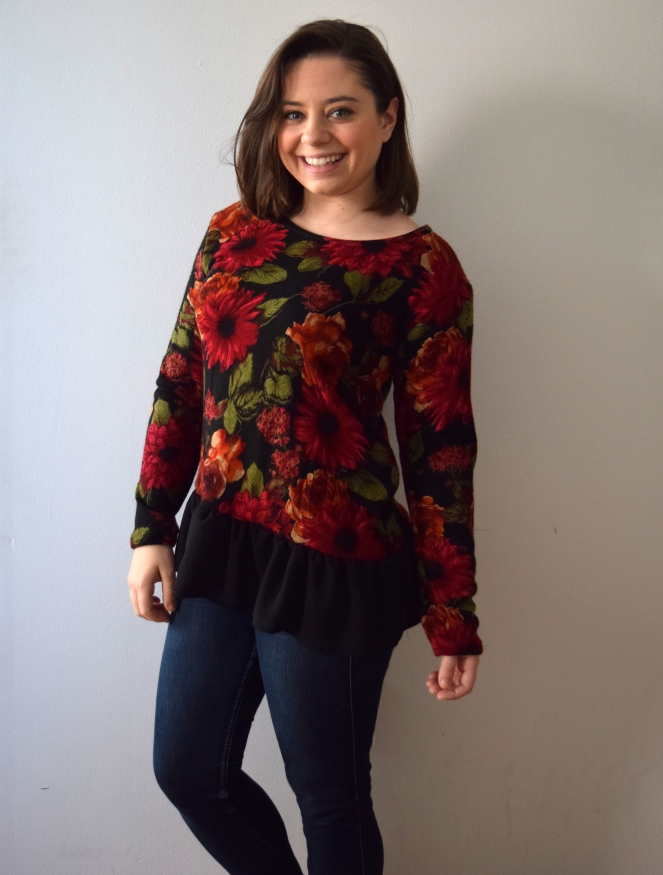 #RefashionFriday Oversized Sweater to Top - Trish Stitched