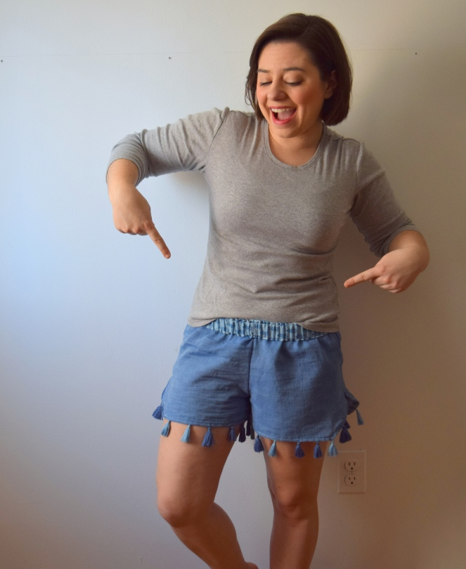 Fashion Revolution Week: Scarf to Shorts Refashion- Trish Stitched