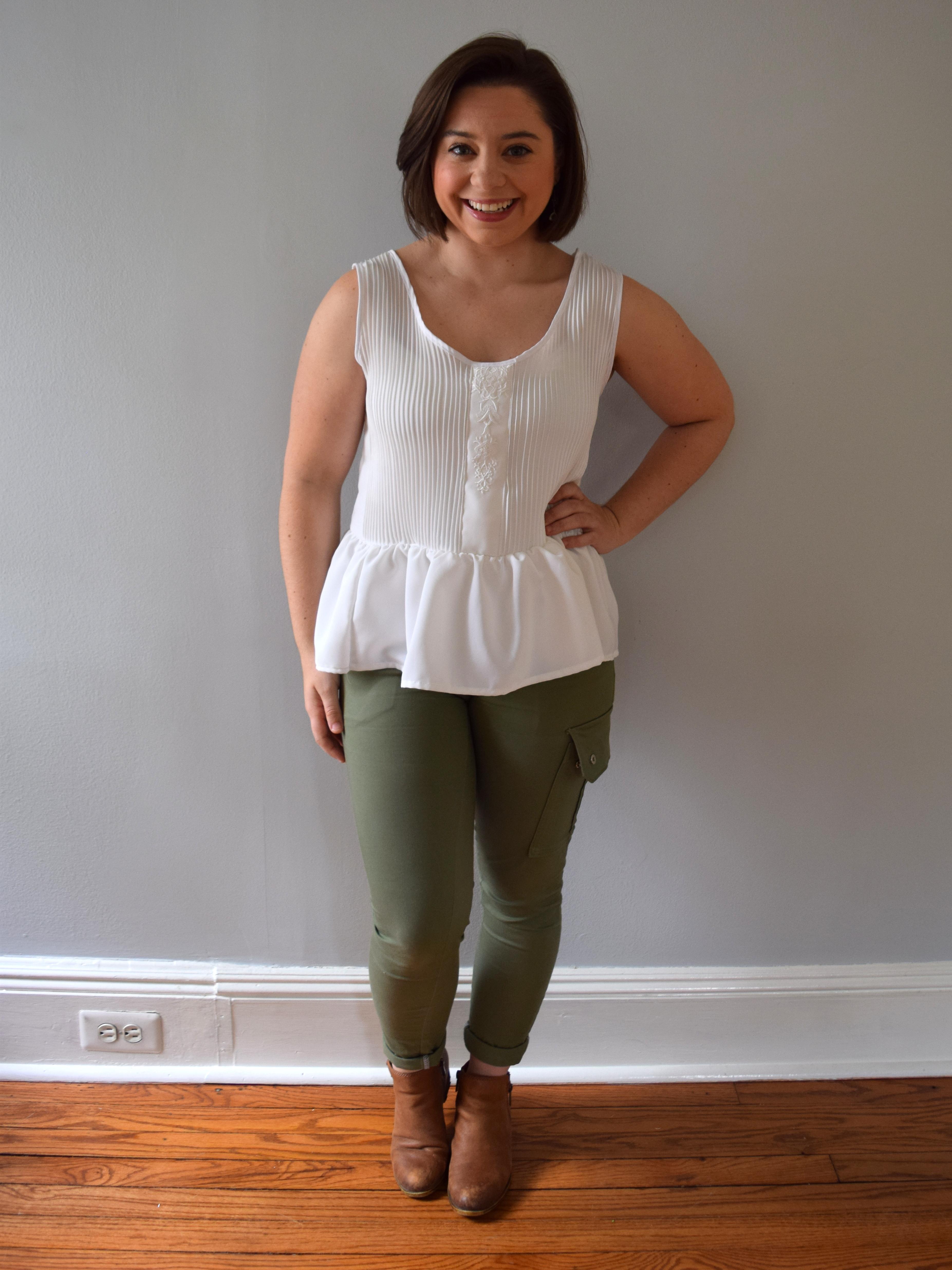 #RefashionFriday Blouse to Peplum Tank - Trish Stitched