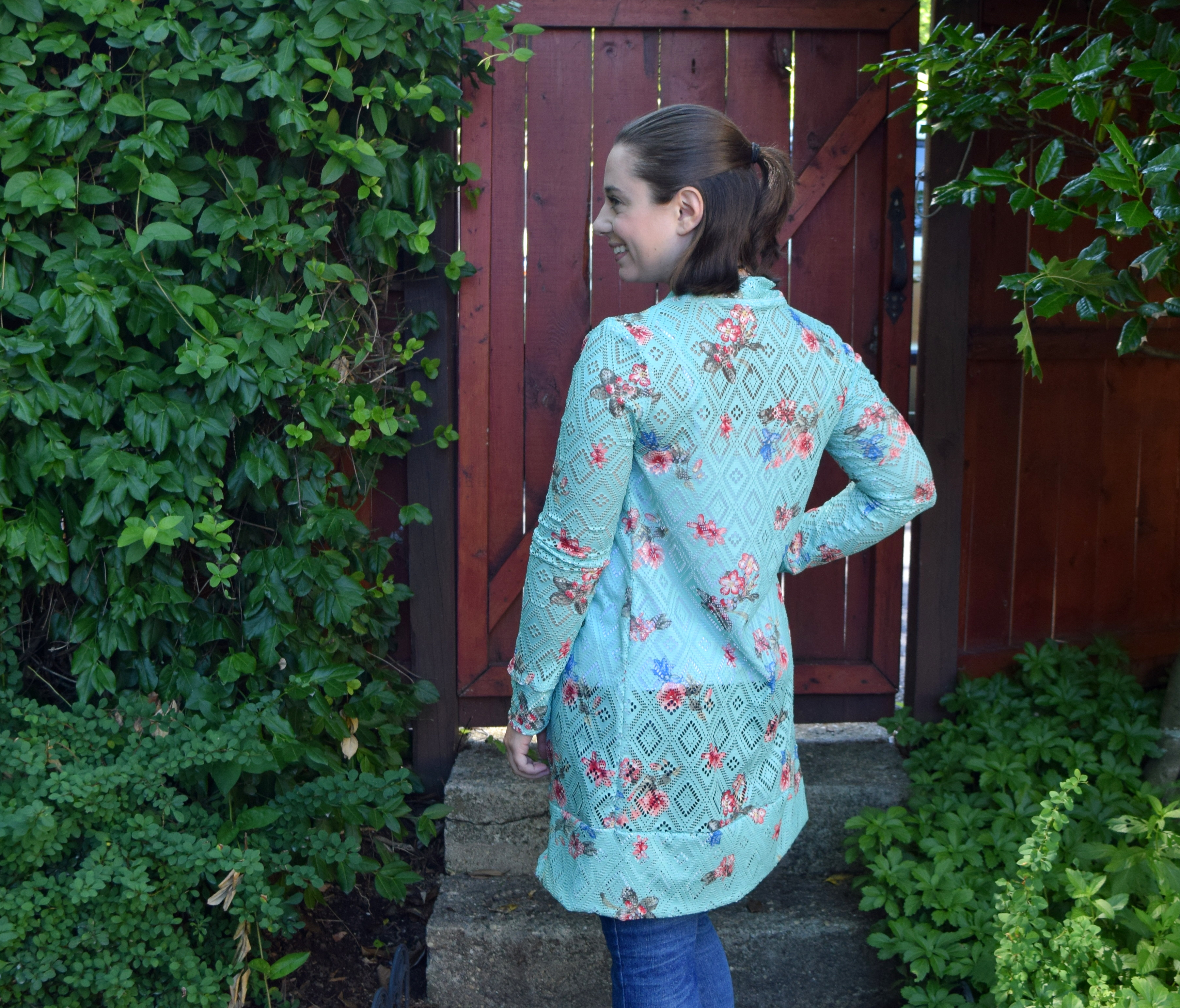Summer Floral Blackwood Cardigan - Trish Stitched