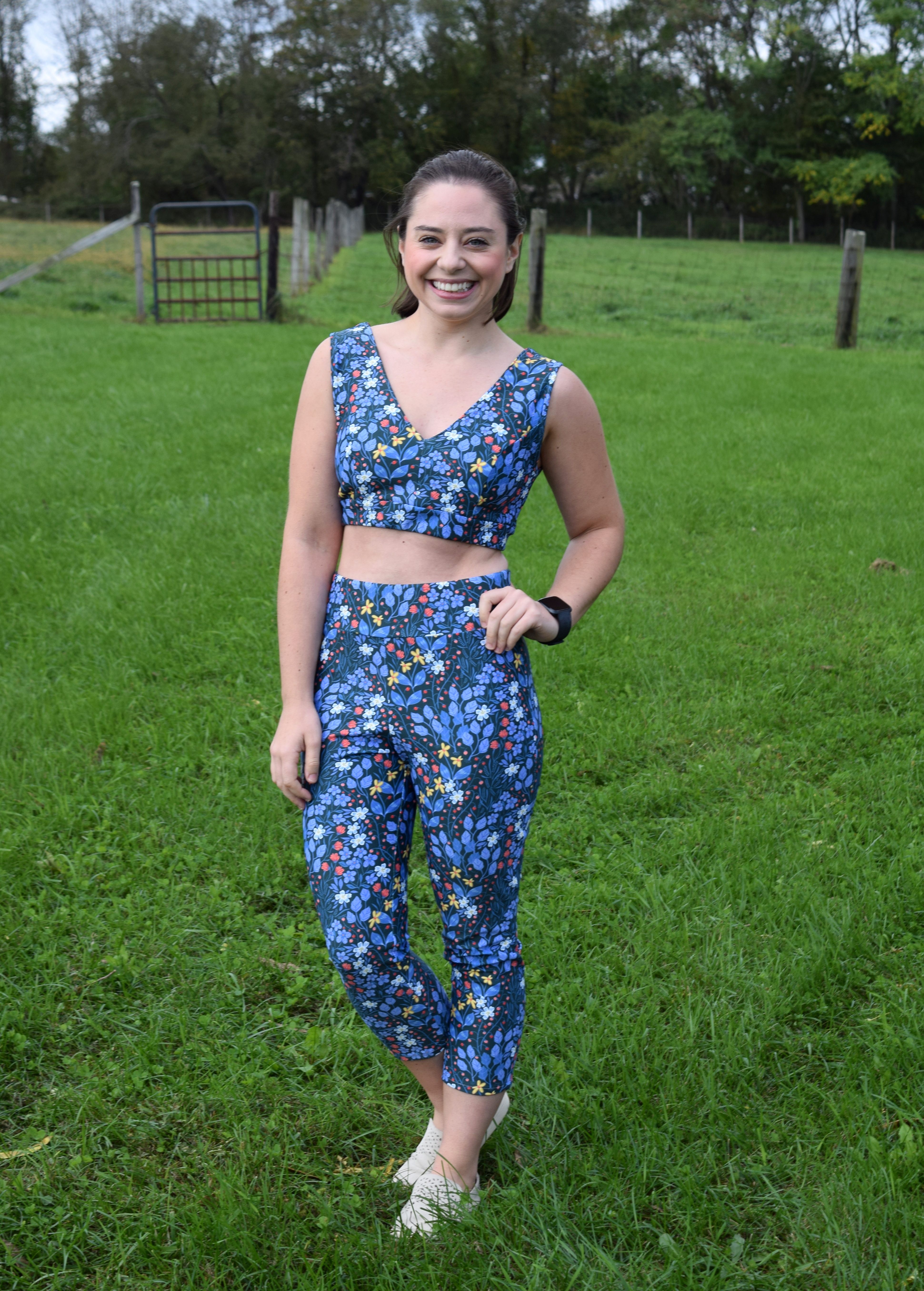 Pine Crest Fabric: Floral Workout Gear - Trish Stitched