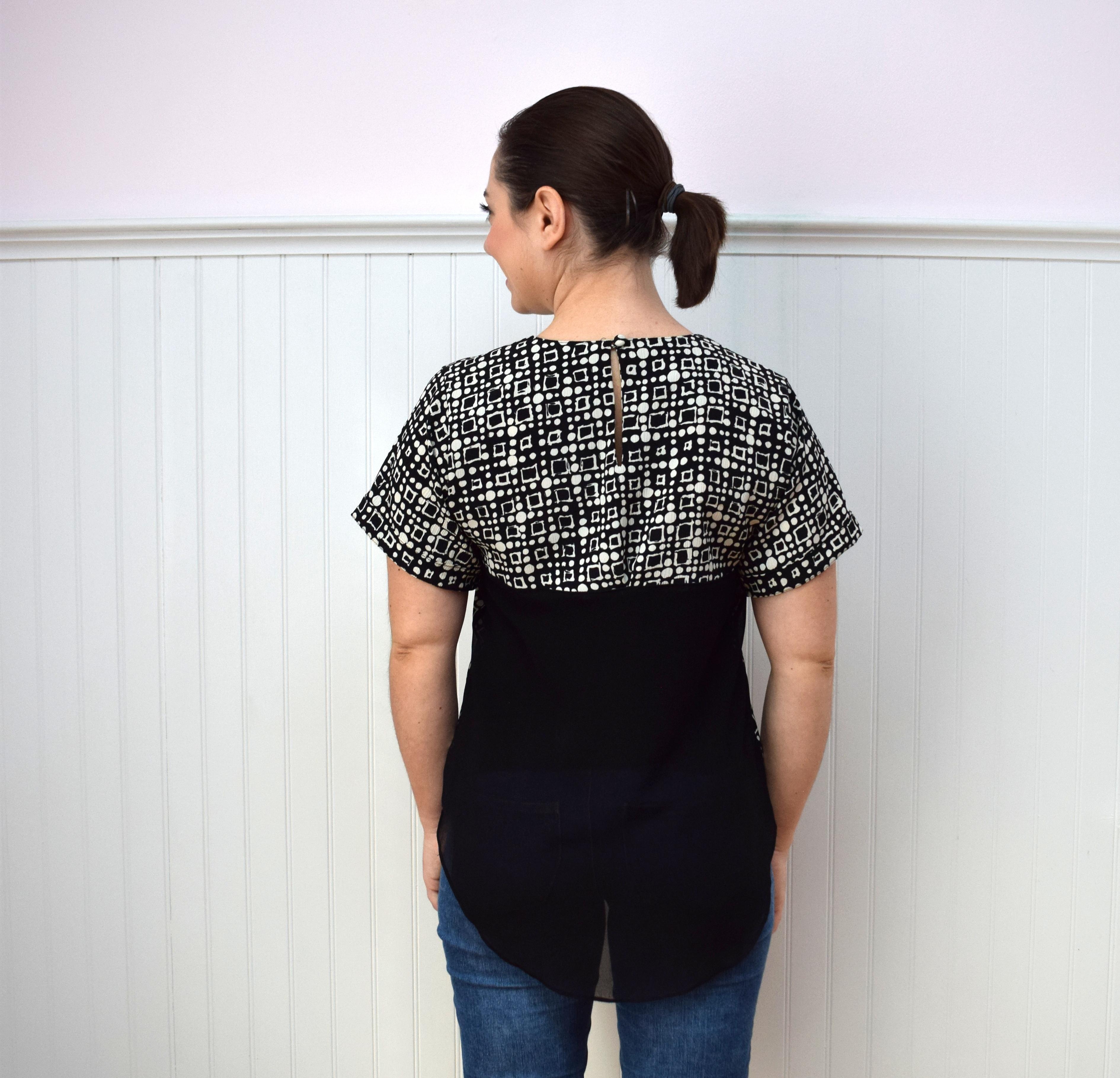 #RefashionFriday Easy Top Refashion - Trish Stitched