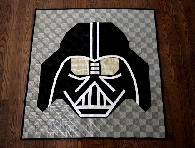 Darth Vader Quilt - Trish Stitched