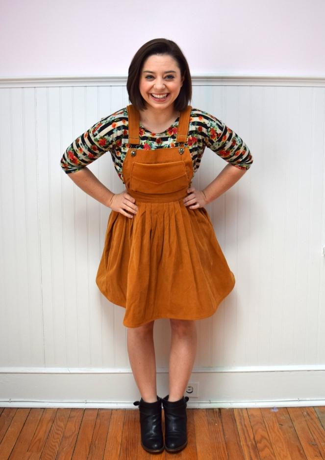 #RefashionFriday Skirt to Pinafore - Trish Stitched