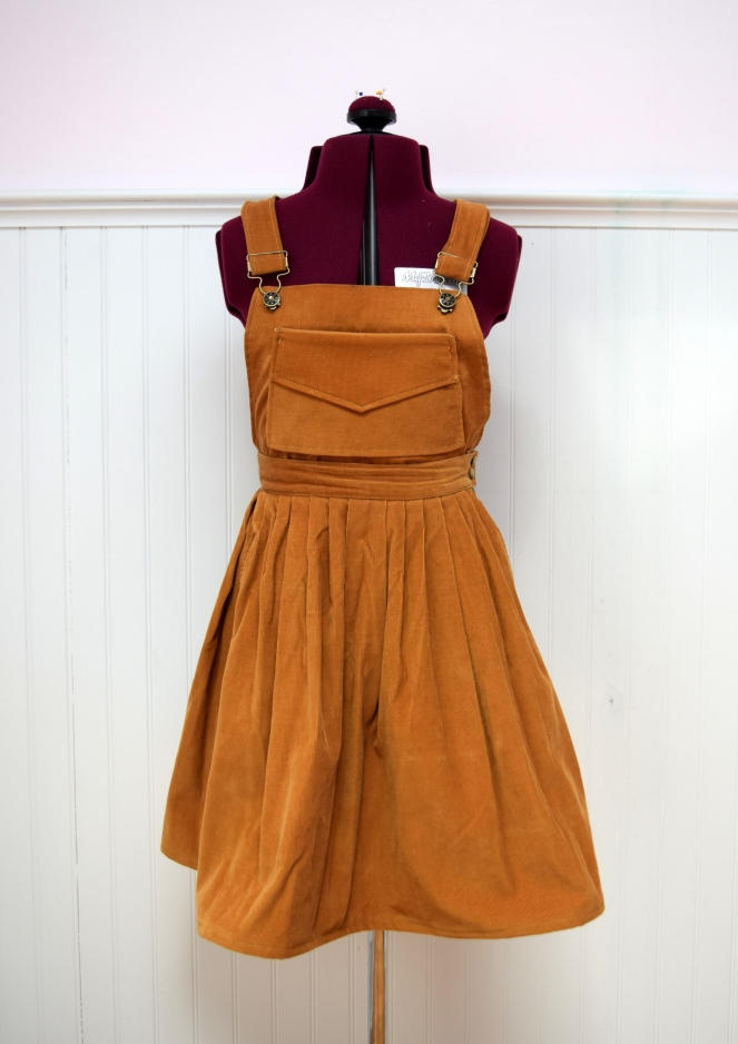 #RefashionFriday Skirt to Pinafore - Trish Stitched