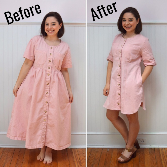 #RefashionFriday Dress to Shirt Dress - Trish Stitched