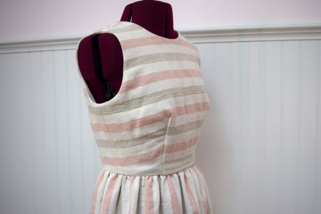 Spring Stripe Dress with Measure Fabric - Trish Stitched