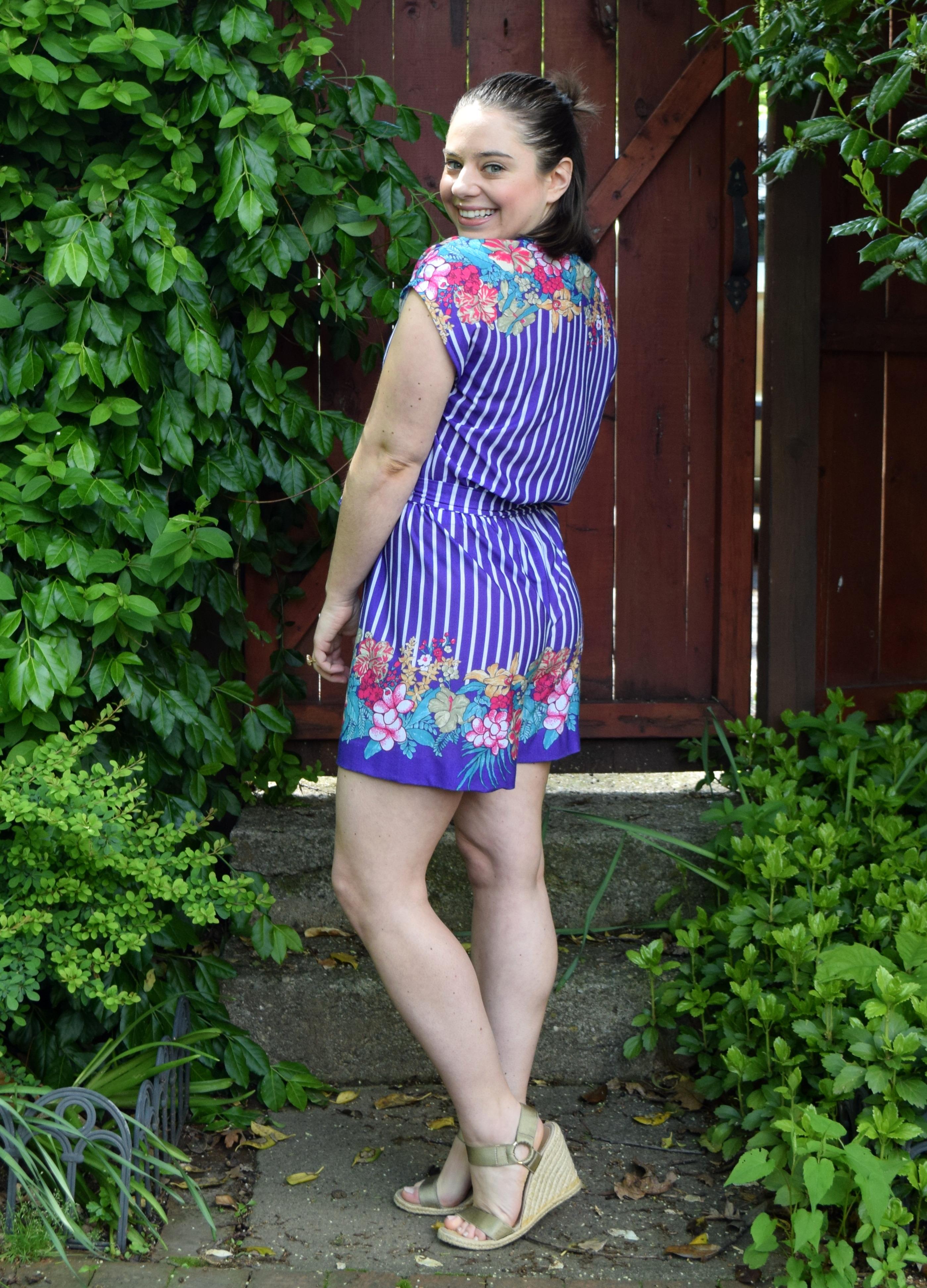 #RefashionFriday Dress to Romper Refashion - Trish Stitched