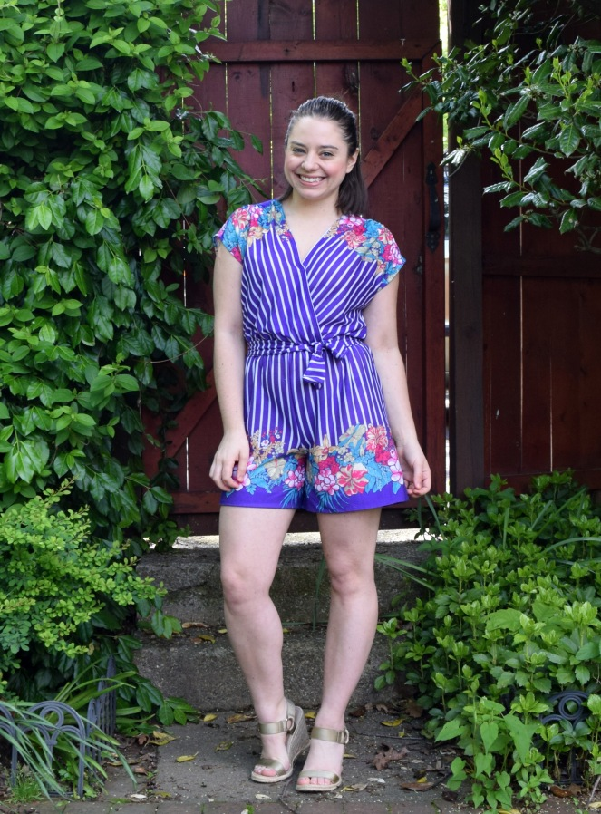 #RefashionFriday Dress to Romper Refashion - Trish Stitched