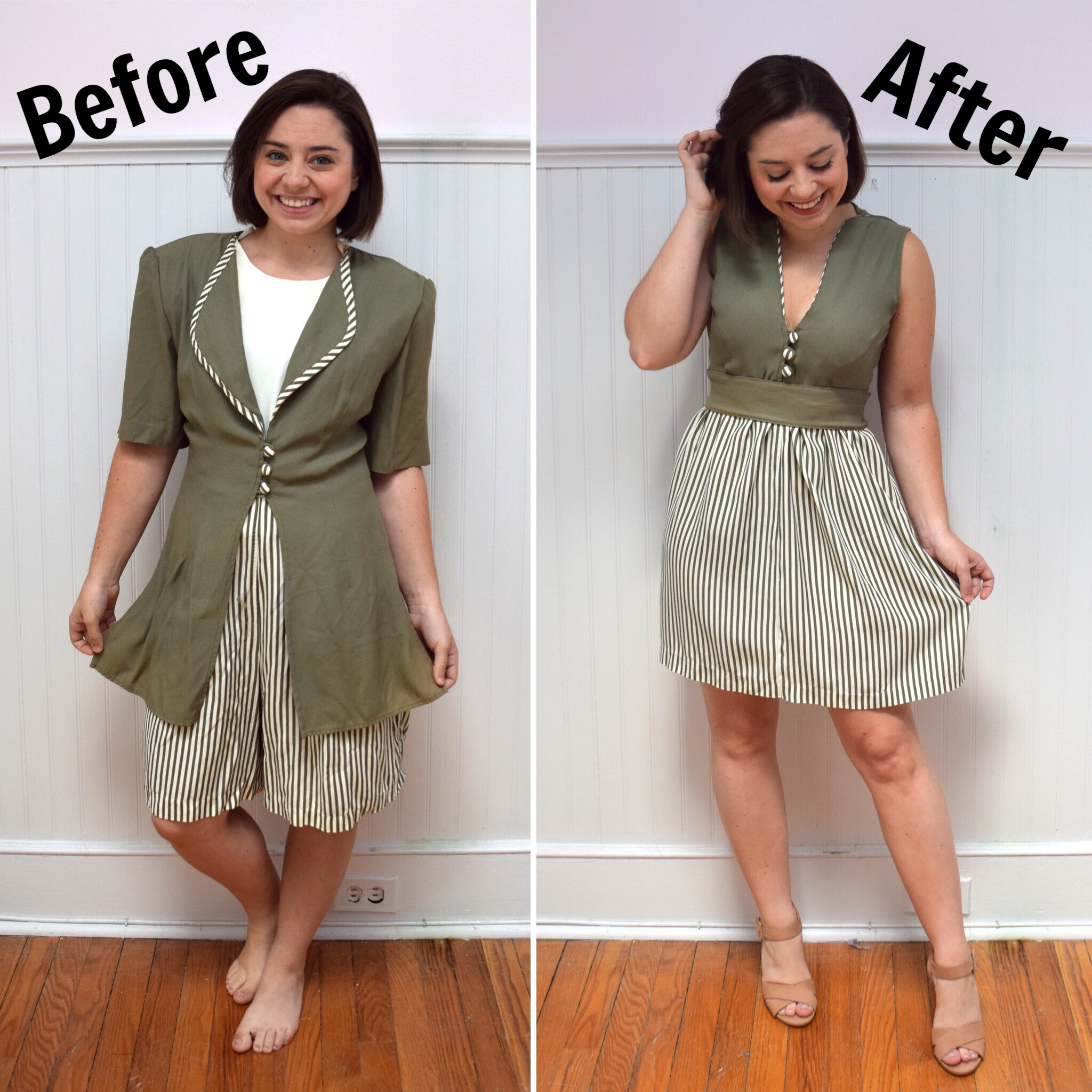 #RefashionFriday Romper to Dress Refashion- Trish Stitched