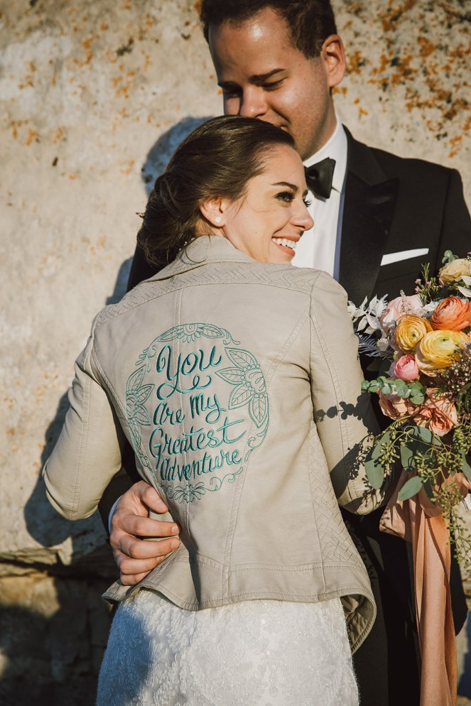Embroidered Wedding Jacket - Janome - Trish Stitched