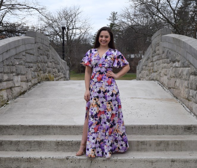 Deer and Doe Magnolia Purple Floral Dress - Trish Stitched (with Craft and Thrift Shop)