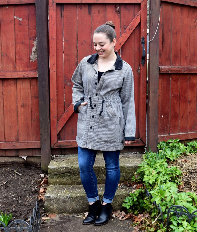 Refashion Friday: Striped Jacket Refashion - Trish Stitched