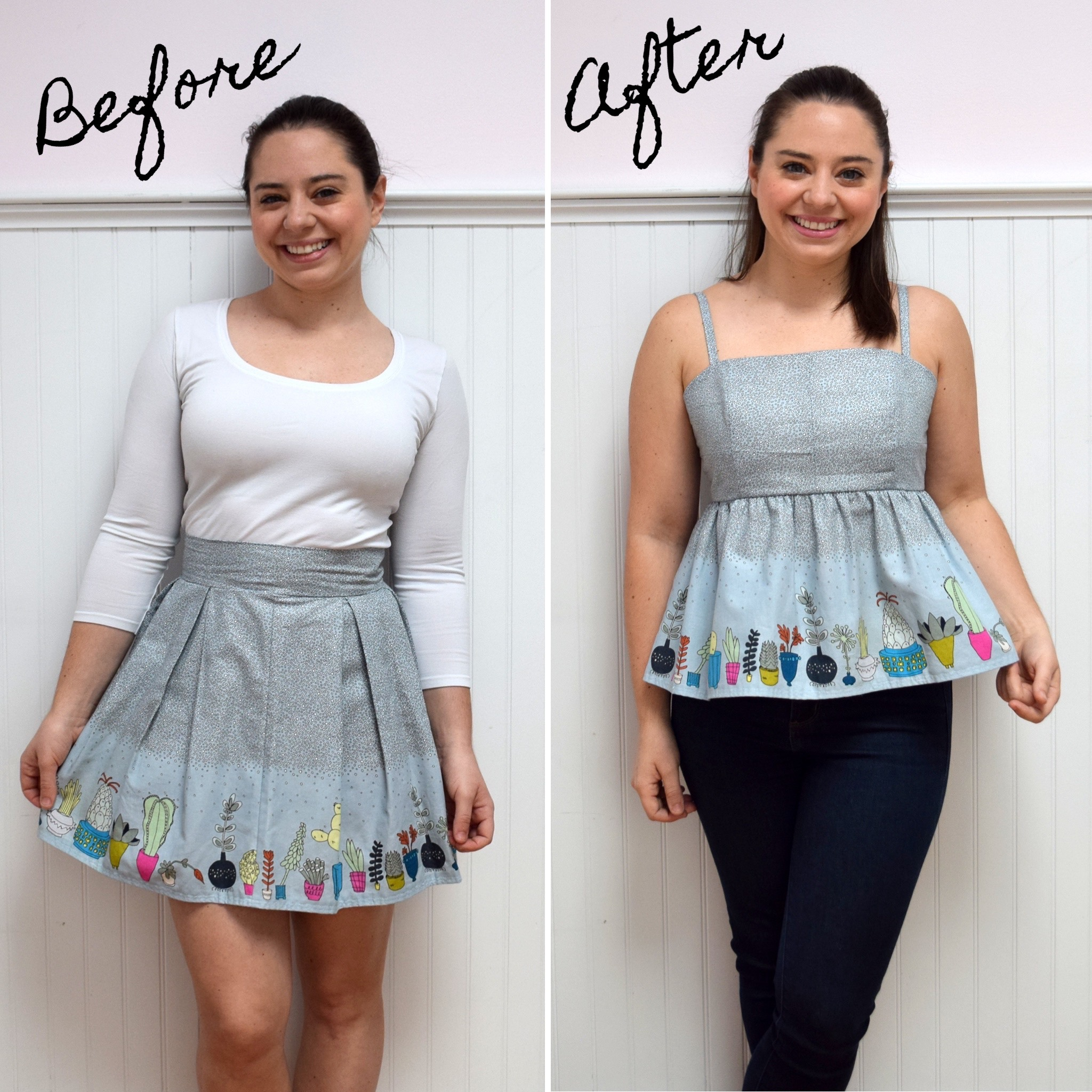 Fashion Revolution Week: Skirt to Top Refashion- Trish Stitched