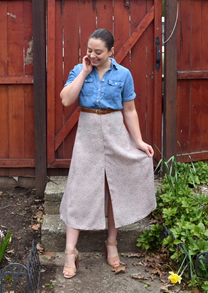 Fashion Revolution Week: Dress to Midi Skirt Refashion - Trish Stitched