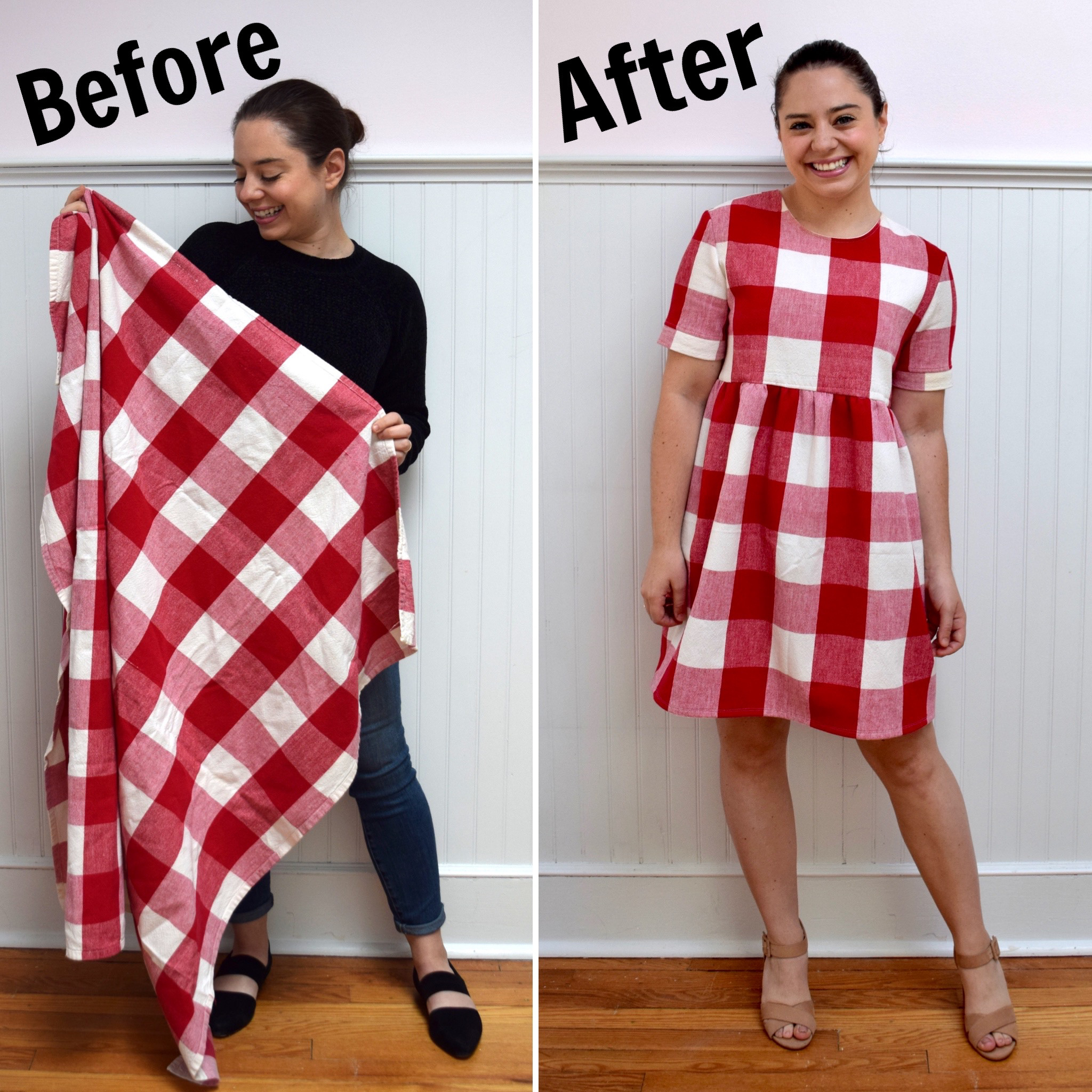 turn a tablecloth into a dress